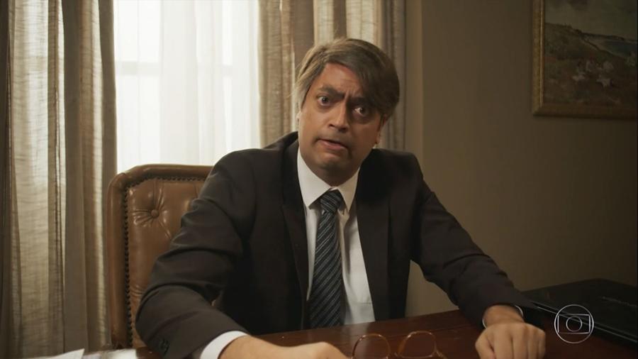 Fernando Caruso imita o presidente Jair Bolsonaro no Zorra - Reprodução/TV Globo