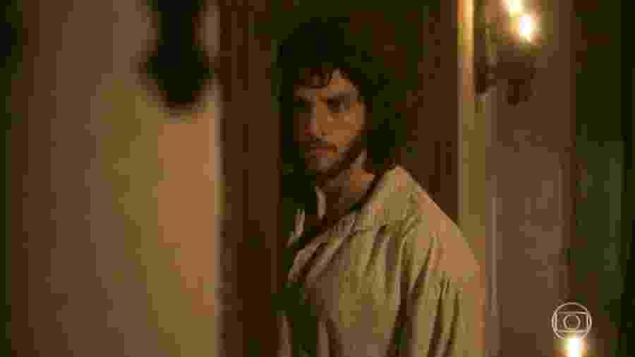 Joaquim (Chay Suede) em Novo Mundo (Reprodução/TV Globo). - Reprodução / Internet
