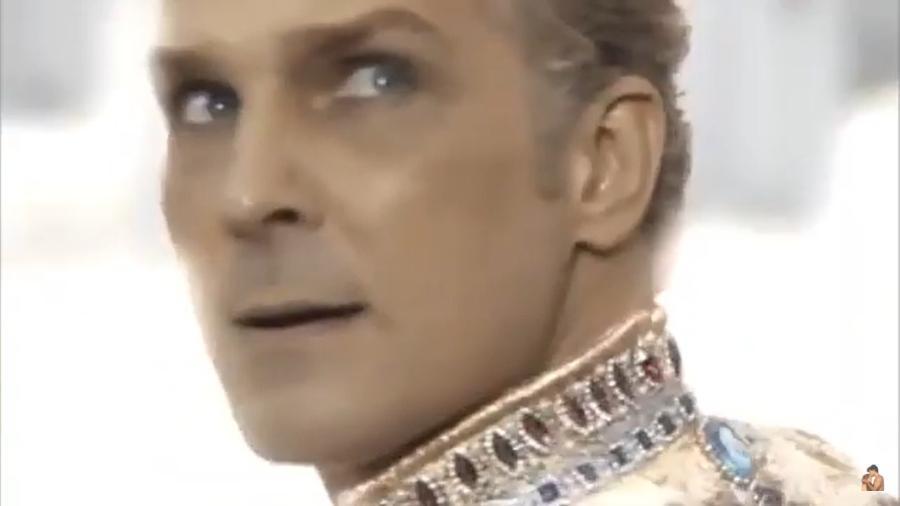 Igor Rickli como Lúcifer em Gênesis (Reprodução / YouTube) - Reprodução / Internet
