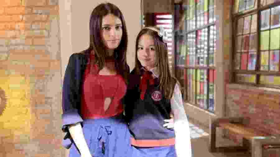 Lisandra Cortez e Bela Fernandes como Débora e Filipa em As Aventuras de Poliana (Divulgação / SBT) - Reprodução / Internet