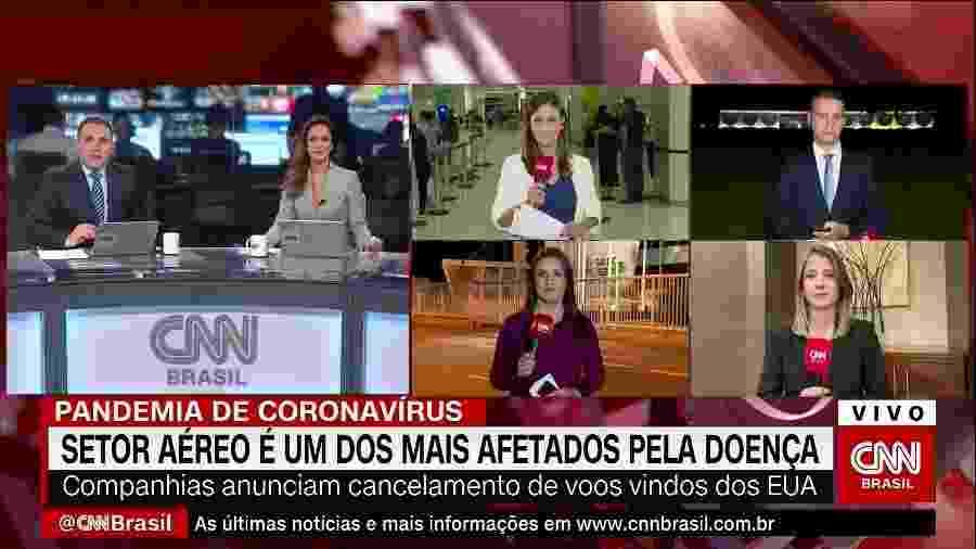 Tela na estreia da CNN Brasil - Reprodução / Internet