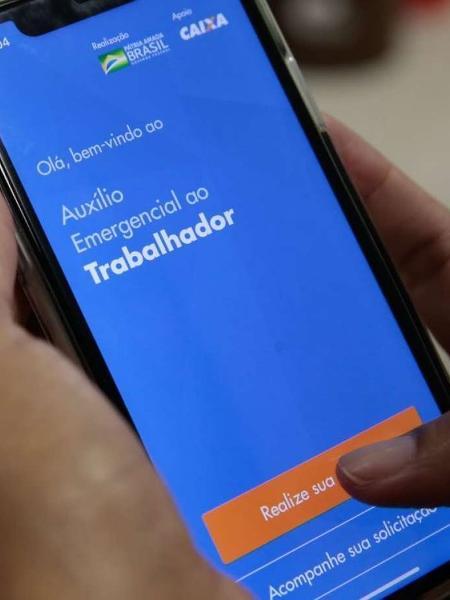 Aplicativo do auxílio emergencial da Caixa                              - MARCELO CASAL JR/Agência Brasil