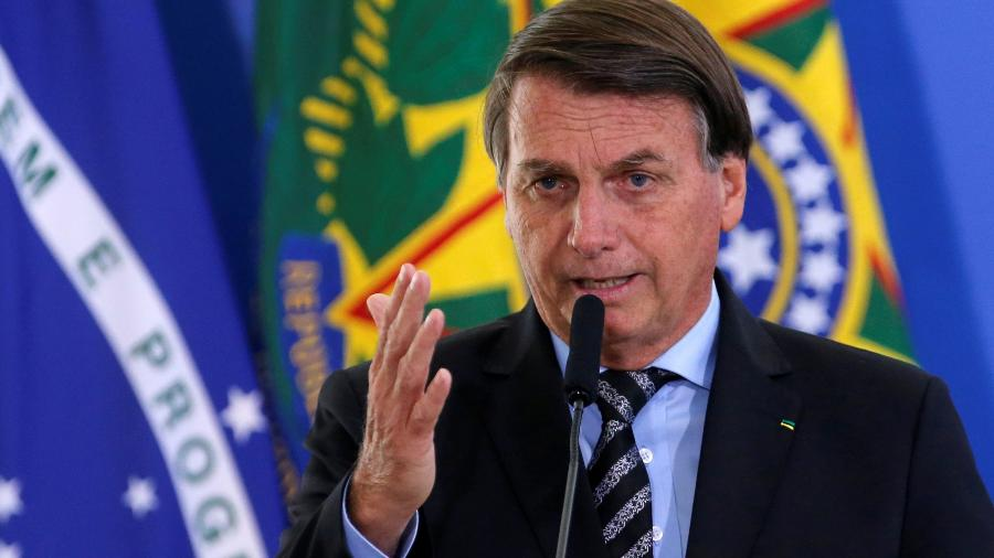 Bolsonaro durante cerimônia no Palácio de Planalto - Adriano Machado/Reuters