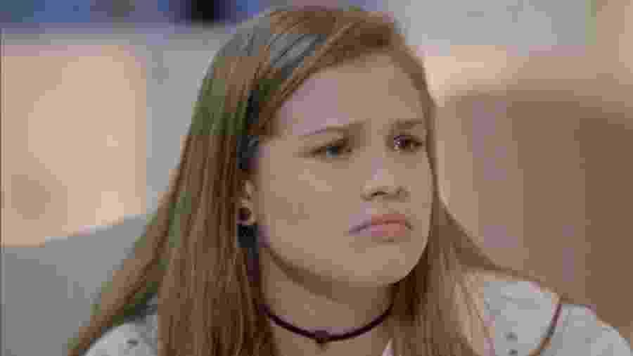 Andrea (Letícia Peroni) em Topíssima (Reprodução/TV Globo). - Andrea (Letícia Peroni) em Topíssima (Reprodução/TV Globo).