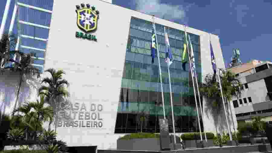 Sede da CBF no Rio. Reunião desta terça-feira com os clubes será feita por meio de videoconferência - Divulgação CBF