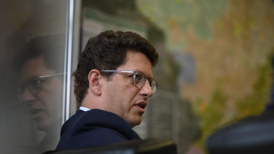 Ricardo Salles, ministro do Meio Ambiente do governo Bolsonaro - Andre Borges/Bloomberg