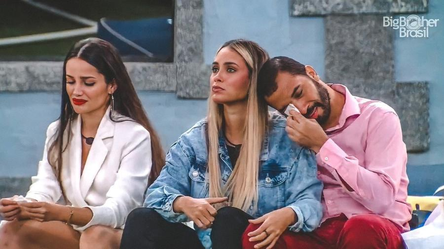 """Juliette, Sarah e Gilberto estão confinados no """"BBB 21"""" - Reprodução / Internet"""