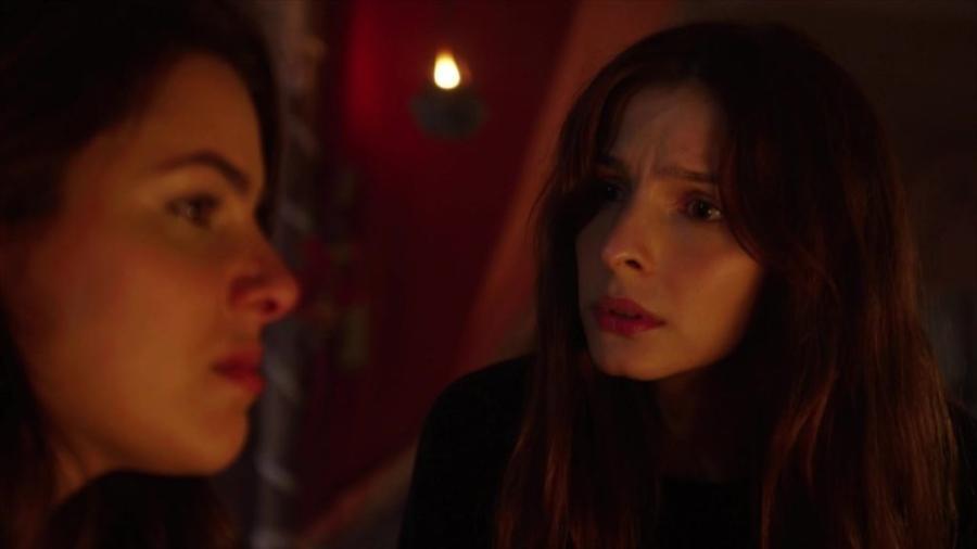 Lia (Michelle Batista) e Raquel (Thaís Melchior) em Gênesis (Divulgação/Record TV)  - Reprodução / Internet