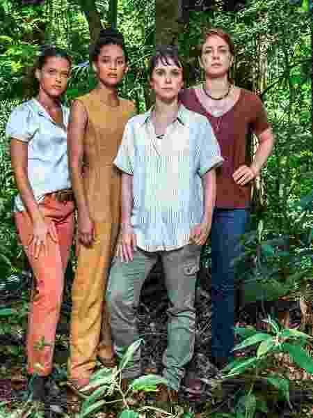 """Clara (Thainá Duarte), Verônica (Taís Araújo), Natalie (Débora Falabela) e Luiza (Leandra Leal), personagens de """"Aruanas"""" - Fábio Rocha/TV Globo"""