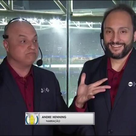 André Henning e Vitor Sérgio Rodrigues: a dupla mais conhecida do Esporte Interativo - Reprodução/TNT