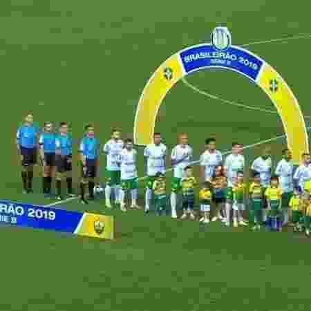 Em greve por atraso salarial, time do Figueirense deu W.O. em jogo da Série B - Reprodução / Premiere