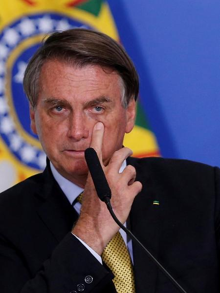 Jair Bolsonaro durante cerimônia no Palácio do Planalto, em Brasília (DF) - Adriano Machado/Reuters