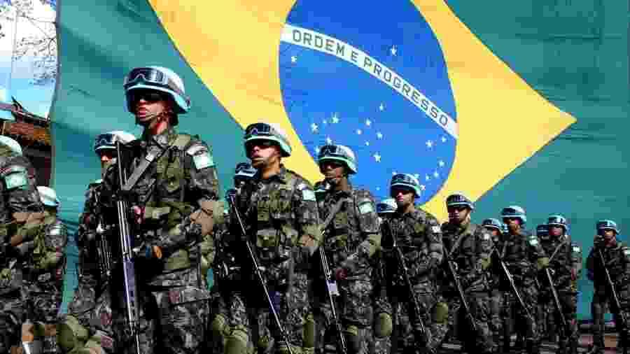 Apresentação dos soldados do Exército Brasileiro - Divulgação