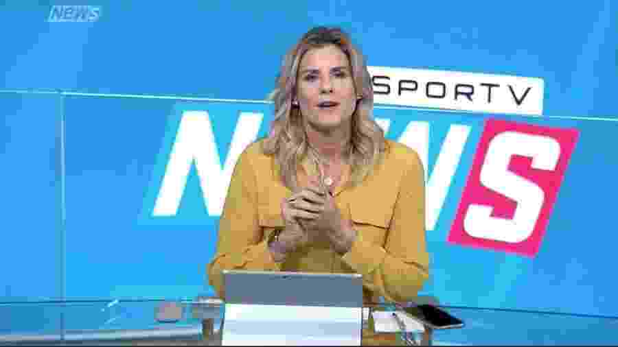 Janaína Xavier no SporTV News: edição matinal do noticiário está cancelada - Reprodução/Globo