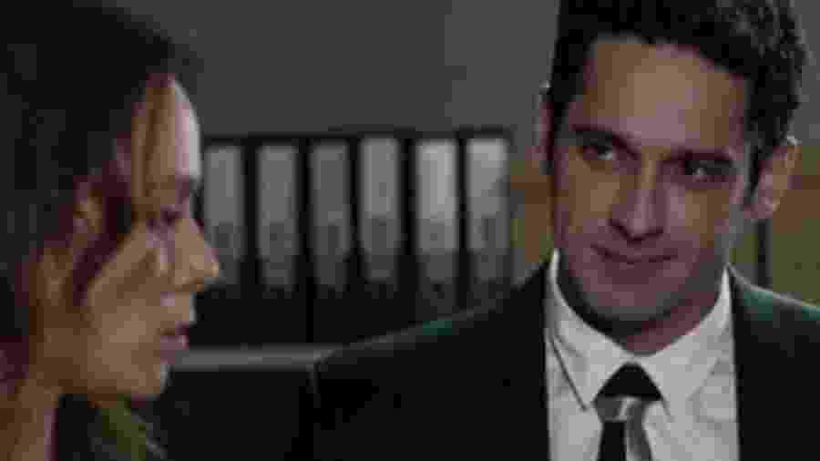 Beto (João Baldasserini) e Tancinha (Mariana Ximenes) de Haja Coração (Reprodução - TV Globo) - Reprodução / Internet