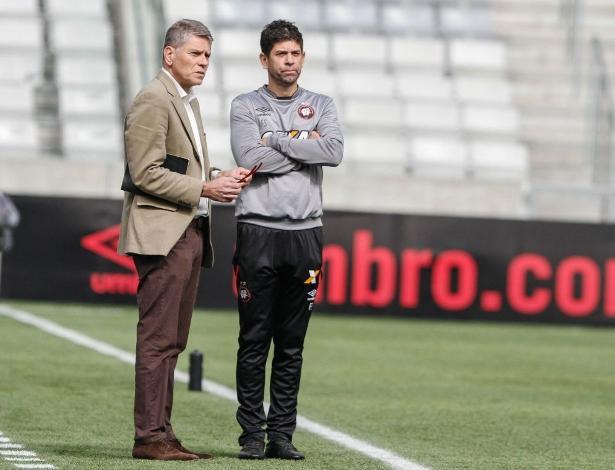 Paulo Autuori, com Fabiano Soares: volta ao Rio pela mãe e por nova demissão de treinador