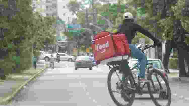 Ciclistas são priorizados para entregas mais curtas  -                                 ALEXANDRE GONDM/JC IMAGEM                             -                                 ALEXANDRE GONDM/JC IMAGEM