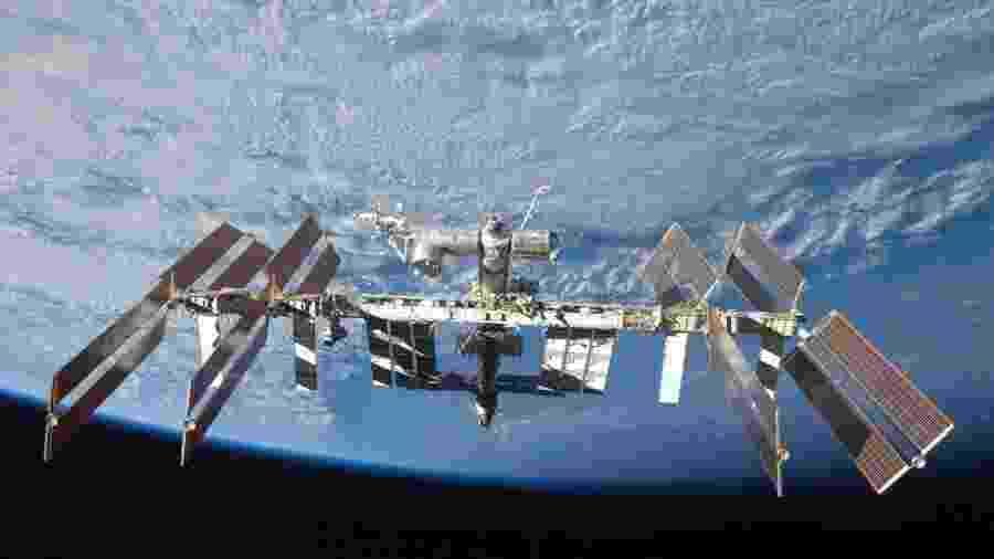 Estação Espacial Internacional (foto) receberá o robô Fedor; no Brasil, o nome renderia piadas - Divulgação