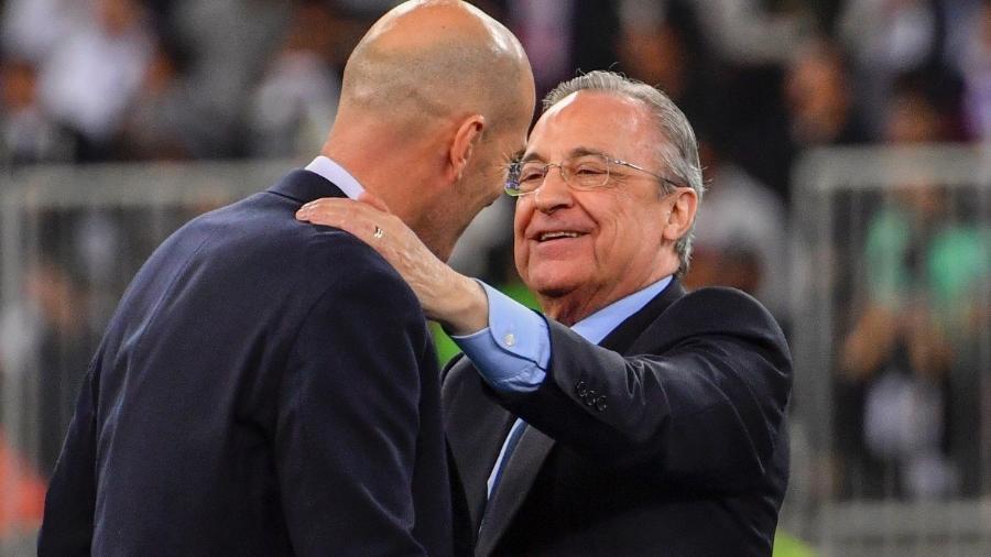 O presidente Florentino Pérez, do Real Madrid e da Superliga europeia -                                 AFP