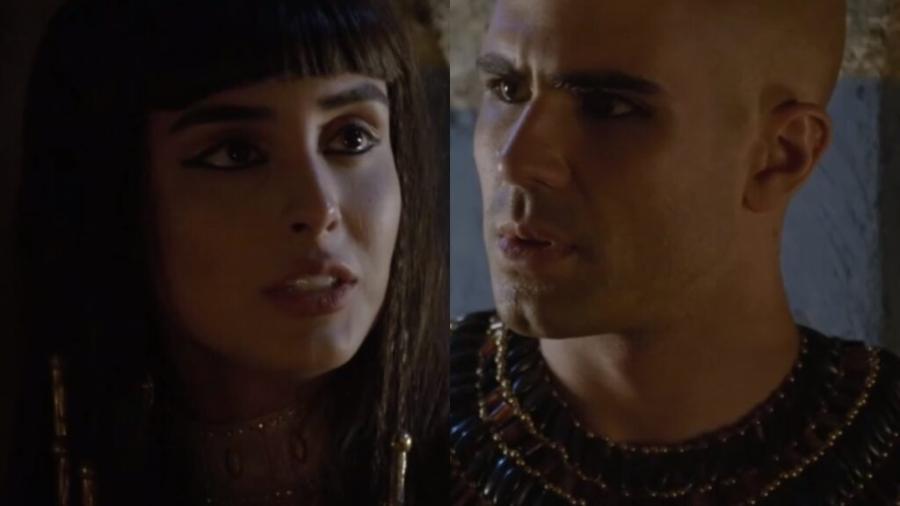 Asenate (Letícia Almeida) e José (Juliano Laham) de Gênesis (Reprodução - Record TV) - Reprodução / Internet
