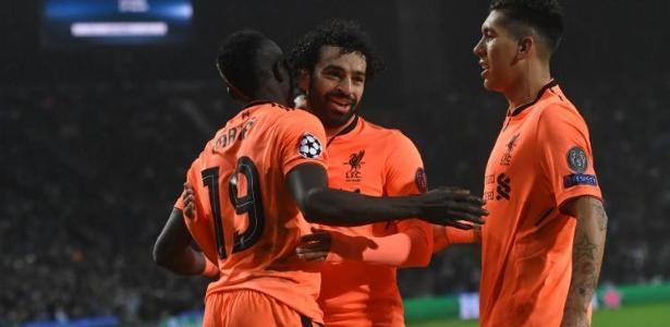 Mané, Salah e Firmino: quase 100 gols juntos na temporada europeia - Francisco LEONG / AFP