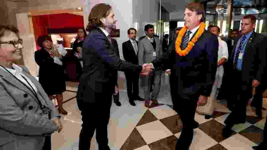 Ex-secretário-executivo da Casa Civil, Vicente Santini e presidente Jair Bolsonaro  -  Presidência da República/Alan Santos