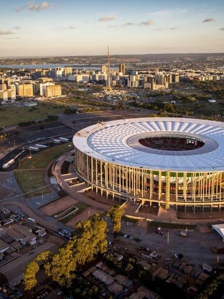 Estádio Mané Garrincha, em Brasília, pode ter a final da Copa Sul-Americana - (Foto: Estádio Nacional de Brasília Mané Garrincha/ Divulgação)