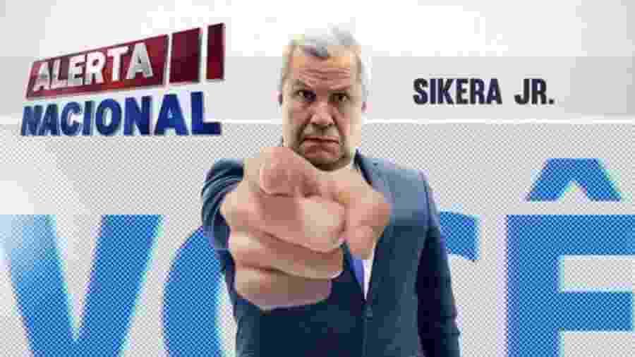 Sikera Jr em chamada do Alerta Nacional, da RedeTV! - reprodução