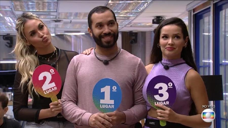 BBB 21: Uma crise entre  Sarah, Gilberto e Juliette que levasse ao fim do G-3 poderia reanimar o reality show da Globo - Reprodução / Internet