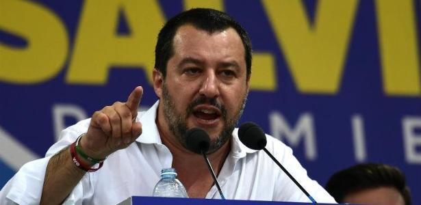 Matteo Salvini, ministro do Interior e vice-premier da Itália - Foto: AFP