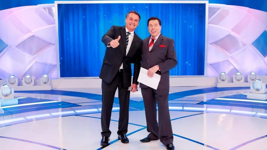 Presidente Jair Bolsonaro e o apresentador Silvio Santos  - Lourival Ribeiro/ SBT