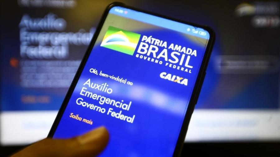 Aplicativo do auxílio emergencial do Governo Federal                              - Marcelo Camargo/Agência Brasil