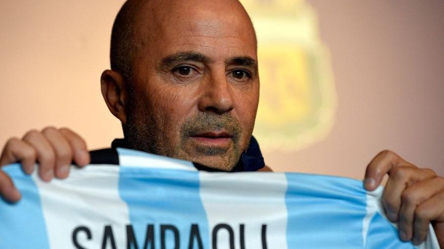 Técnico Sampaoli é apresentado na seleção argentina - Gustavo Garello/Reuters