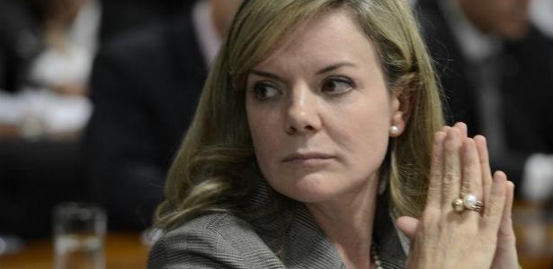 A senadora Gleisi Hoffmann