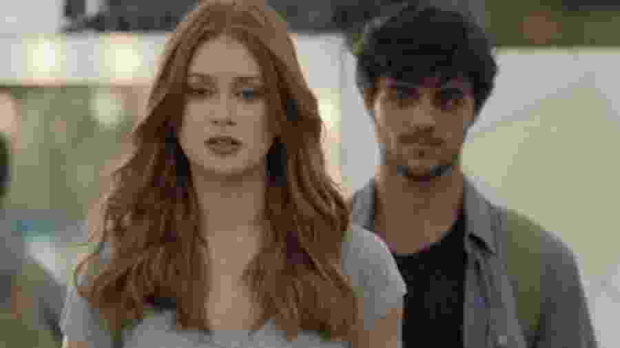 Eliza (Marina Ruy Barbosa) e Jonatas (Felipe Simas) de Totalmente Demais (Reprodução - TV Globo) - Reprodução / Internet
