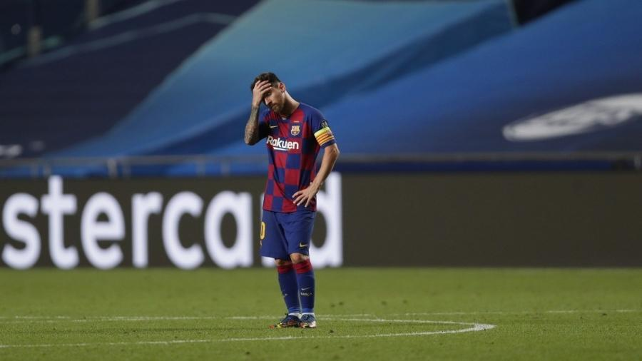 """Perto do adeus, Messi virou a """"última estrela"""" do Campeonato Espanhol - Manu Fernandez/AFP"""