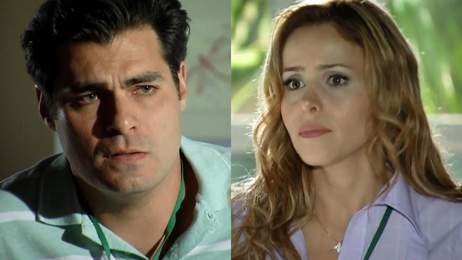 Lúcio (Thiago Lacerda) e Celina (Leona Cavalli) em cena de A Vida da Gente (Reprodução: Globo) - Reprodução / Internet
