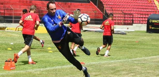 Magrão treinou normalmente na Ilha do Retiro na última terça-feira (25) - Williams Aguiar/Sport