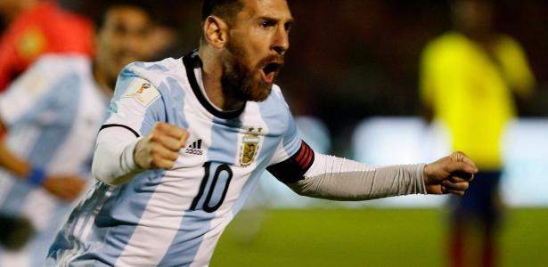 Messi comemora gol decisivo pela Argentina