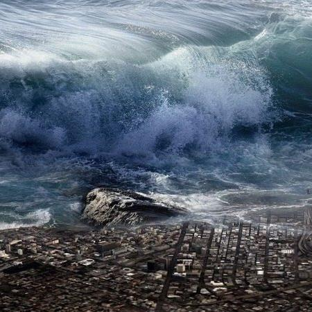 Imagem ilustrativa de um tsunami - Divulgação/ Pixabay