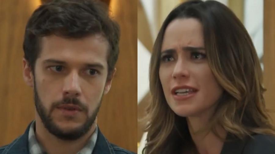 Giovanni (Jayme Matarazzo) e Bruna (Fernanda Vasconcellos) de Haja Coração (Reprodução - TV Globo) - Reprodução / Internet