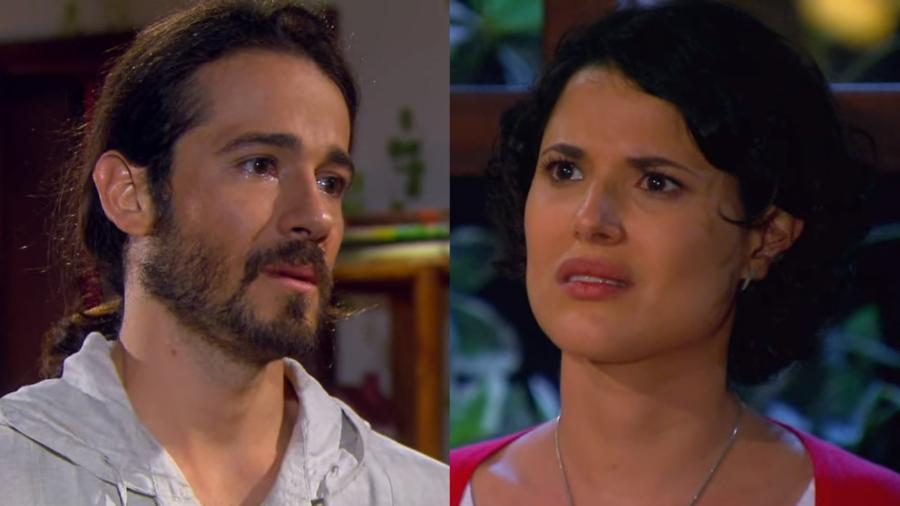 Fernando (Paulo Leal) e Carol (Manuela do Monte) em Chiquititas (Reprodução / SBT) - Reprodução / Internet