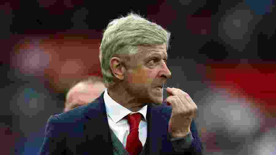 Arsène Wenger, em partida pelo Arsenal - David Rogers/Getty Images