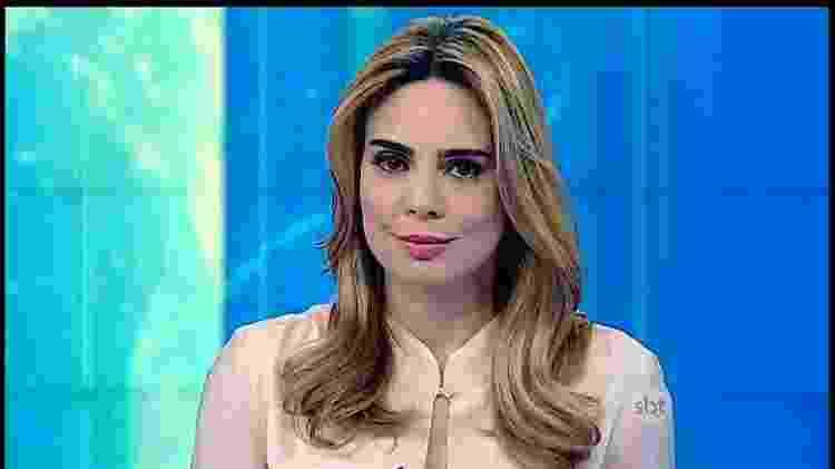 Rachel Sheherazade, uma das apresentadoras do SBT Brasil - Divulgação/SBT