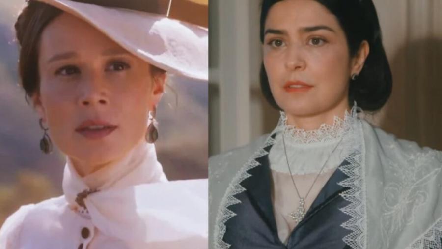 Luísa e Teresa Cristina em Nos Tempos do Imperador (Reprodução) - Reprodução / Internet