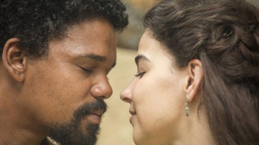 Samuel (Michel Gomes) e Pilar (Gabriela Medvedovski) de Nos Tempos do Imperador (Divulgação - TV Globo) - Reprodução / Internet