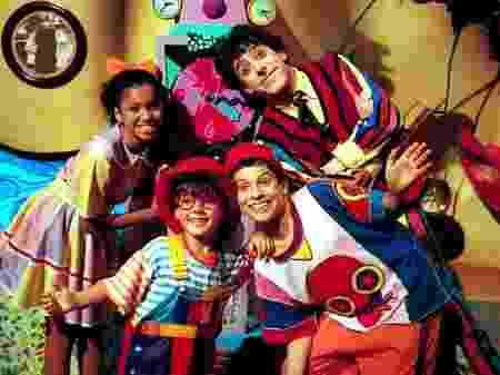 Cinthya Rachel, Cássio Scapin, Fredy Allan e Luciano Amaral, protagonistas de Castelo Rá-Tim-Bum (Divulgação)
