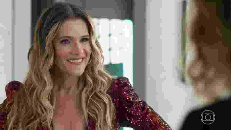 Silvana Nolasco (Ingrid Guimarães) em Bom Sucesso (Reprodução/TV Globo). - Reprodução/TV Globo