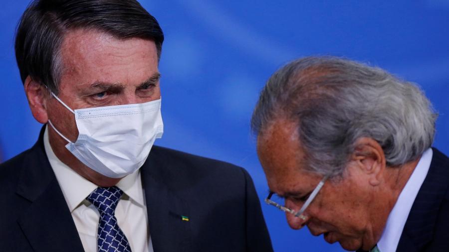 Bolsonaro e Guedes participam de cerimônia no Palácio do Planalto19/08/2020REUTERS/Adriano Machado - Adriano Machado/Reuters