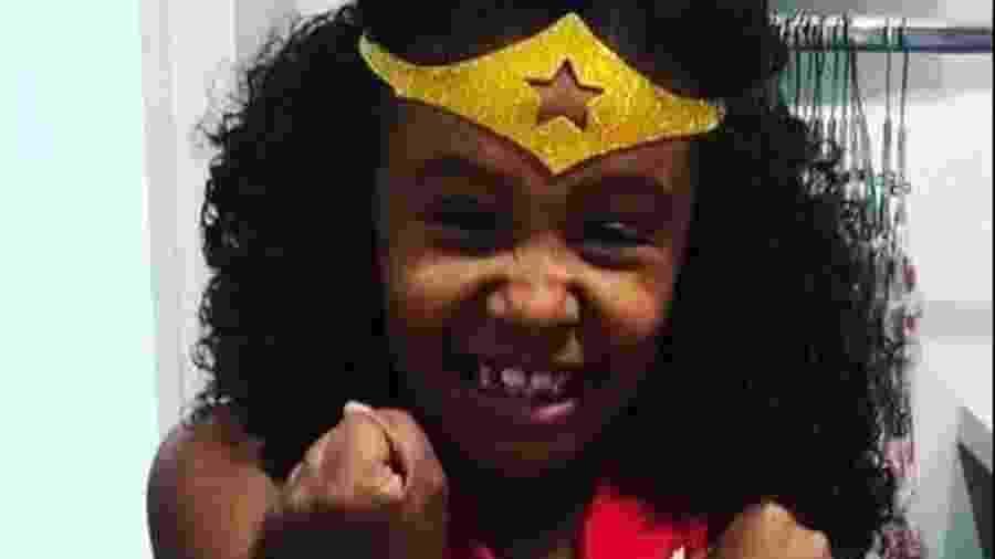 Ágatha Félix, morta aos oito anos por um tiro de um policial militar, no Complexo do Alemão, no Rio - Divulgação